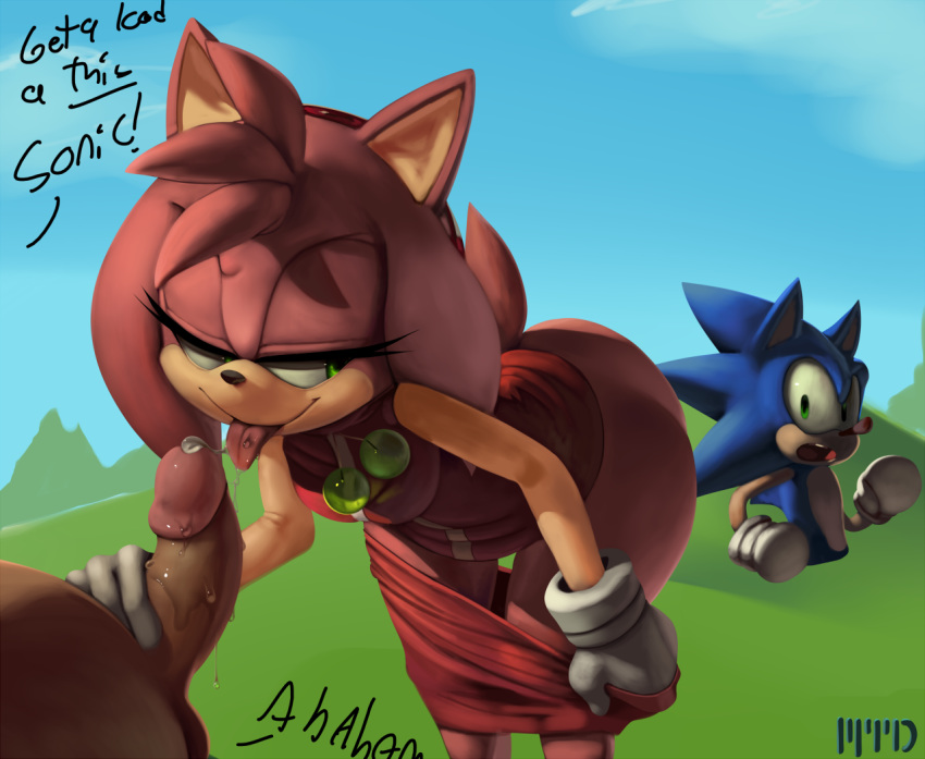 how is old sonic amy from Clothed male, naked female