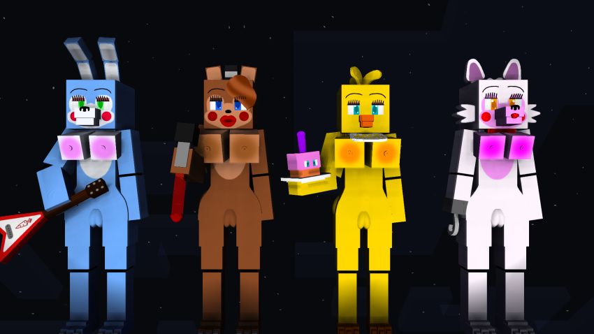 chica freddy fnaf toy x toy How to draw panty and stocking